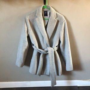 XS light grey Gap pea coat used